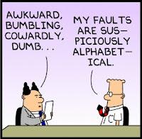 Dilbert, Faults