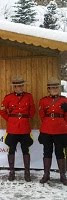 RCMP on duty in Davos.