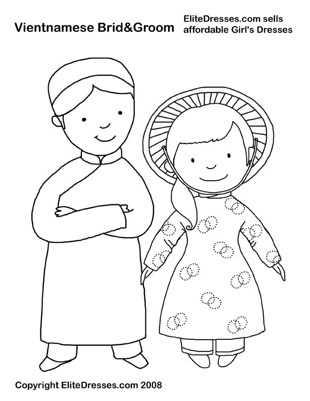 vietnam coloring pages girls 39 dresses flower girl dresses girls holiday dresses
