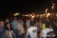 antorchas en la noche de San Juan