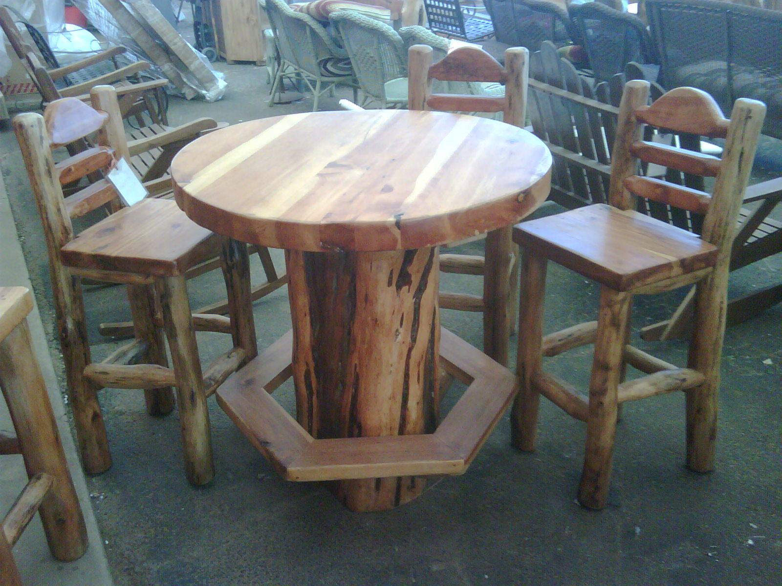 Rustic Bar Table And Chairs Recycled Wood Bar Table Rustic Indoor Pub And Bistro Furniture