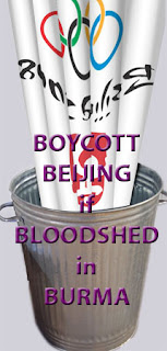 Boycott Beijing if bloodshed in Burma