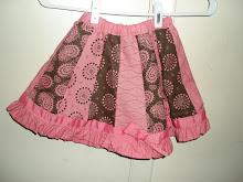 Girls Ribbon Ruffle Skirt