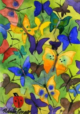 Regalo de Ana...Mis Mariposas y mis deseos...