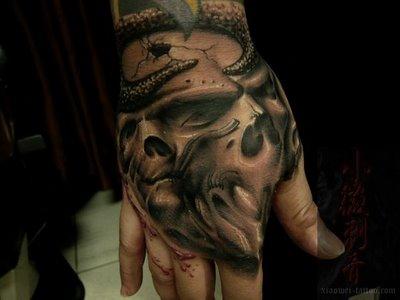 Japanese Hand Tattoo Design