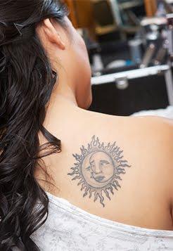 sun tattoos for girls