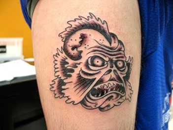 Scream scary of monster tattoo new tattoo 2012 for Monster tattoo designs