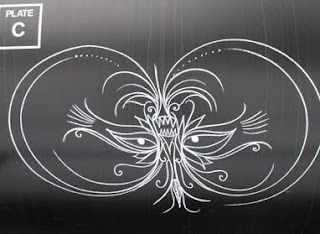Abstract Chalk Art Graffiti