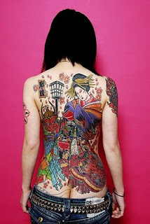 Japanese Tattoo On The Back Body