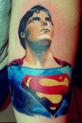 Tattoo Design - Tribal Superman Tattoo