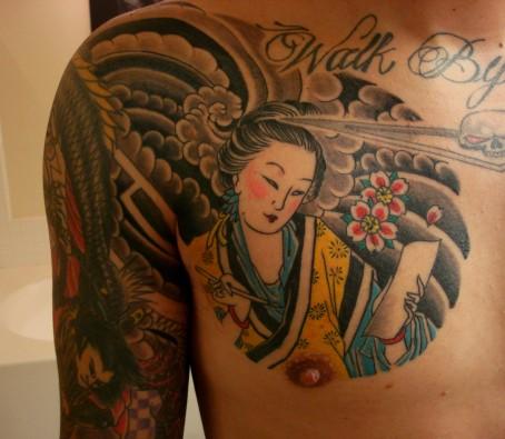 spqr tattoo. Geisha Tattoo Ideas