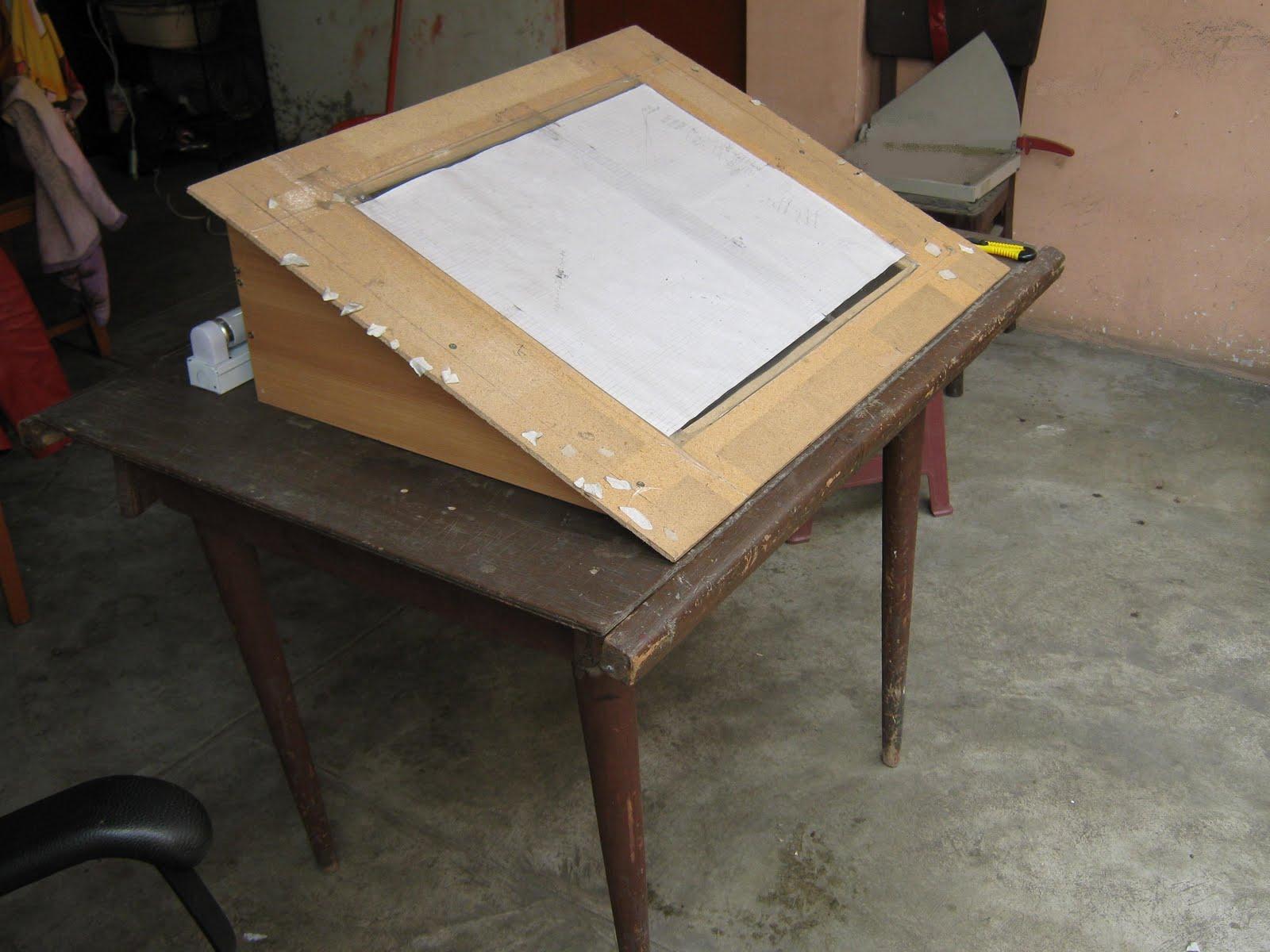 El taller de boshek como hacer tu mesa de calcar 1 - Mesa de calcar ikea ...