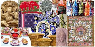 A collage of Orissa handicrafts