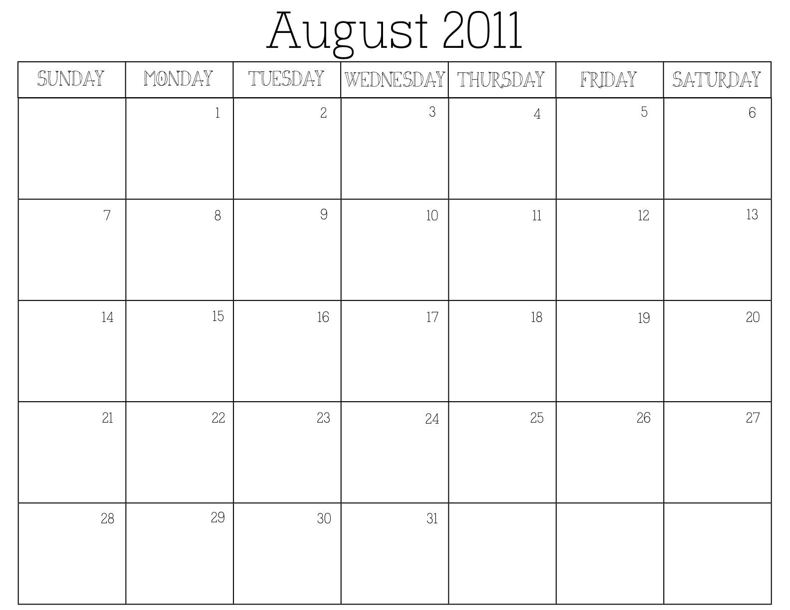 Blank Calendar Generator : The eclectic owl free printable calendar