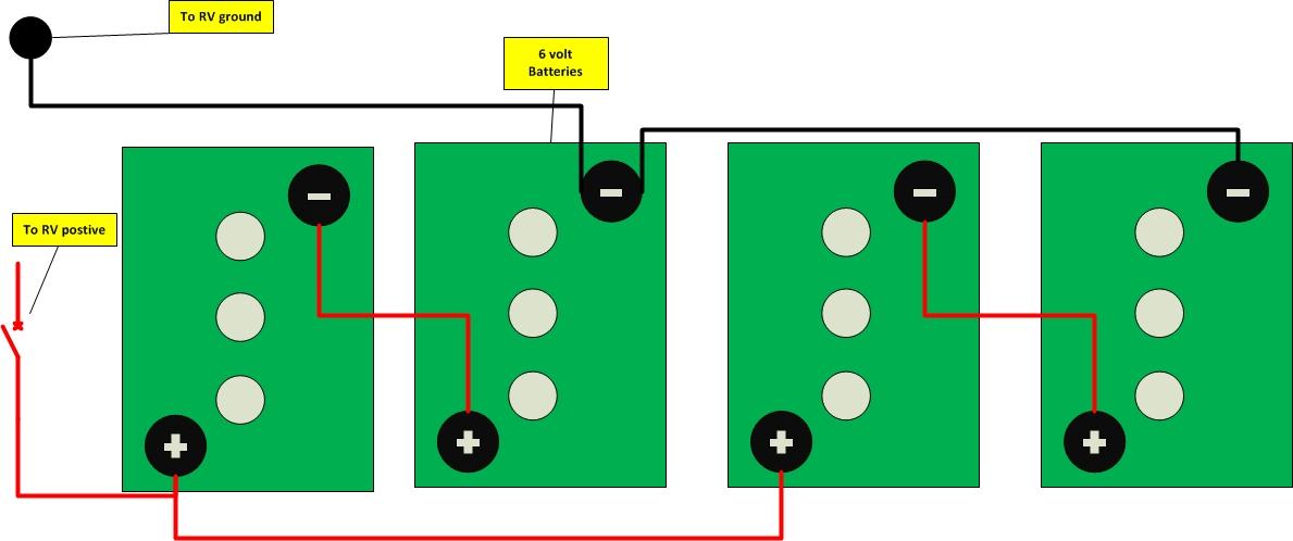 batteries in series   6 volt 3 way 2 light wiring 9 on 3 way 2 light wiring