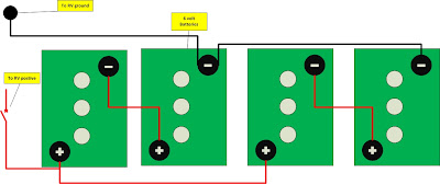 Teamburr blog rv battery wiring 6 volt in series and parallel when connecting batteries in series you are doubling the voltage while maintaining the same capacity amp hours sciox Images