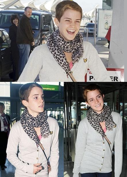 emma watson short hair photo shoot. Emma Watson Short Hair 2010
