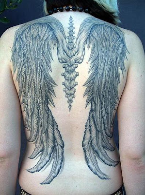 angel tattoos for girls