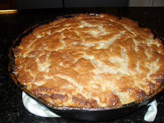 girls, me, and a recipe: Apple Cake in an Iron Skillet