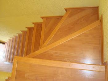 Escalera - Peldanos escalera imitacion madera ...
