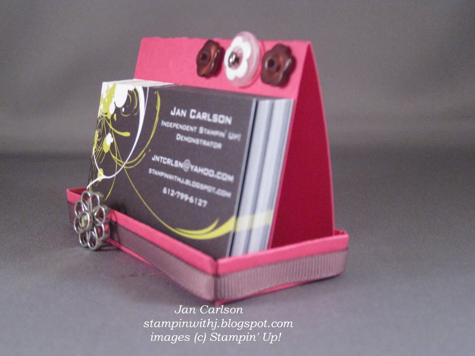 Stampin With Jan: Business Card Holder