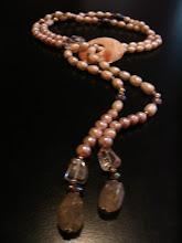 Collar perlas y cuarzos
