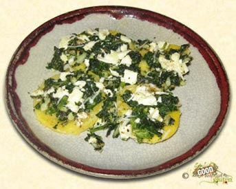 Baked polenta with spinach and feta cheese recipe by jeffs petitchef - Baked polenta cheese recipes ...