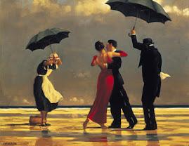 رقص والغنان الزوجين على الشاطئ