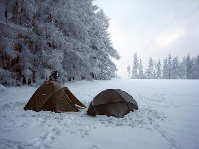 Ranní campingová nádhera