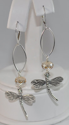 Sterling Silver Signature Dragonfly Earrings - Golden Shadow Swarovski Rock Candy Miami
