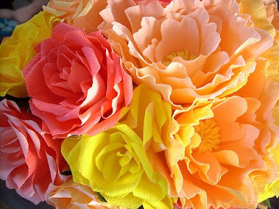 crepe paper flowers wedding. All the Pretty Flowers