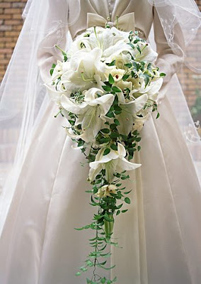 white bridal flower