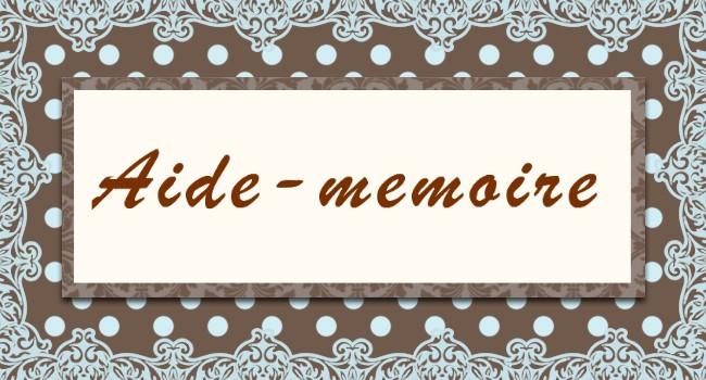 Aide–mémoire