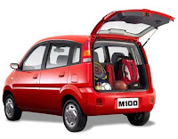 Effa Motors: M100 vista da traseira.