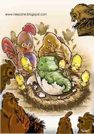 Ayam dengan Telur buaya