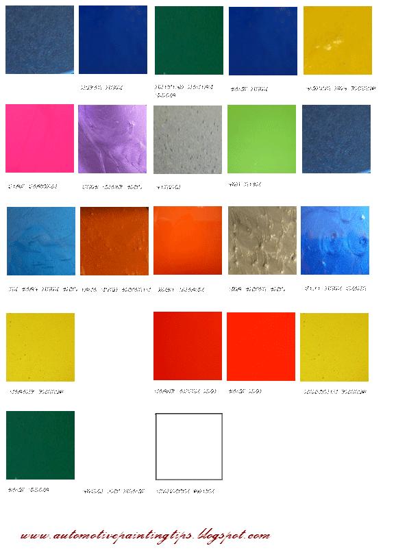 Automotive Paint Color Charts Online Autos Weblog
