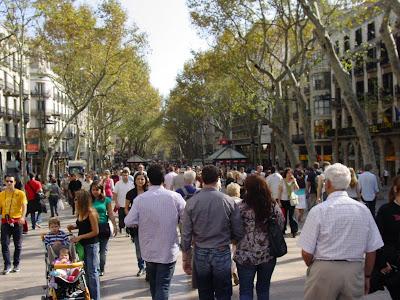 Barcelona sights - Las Ramblas of Barcelona