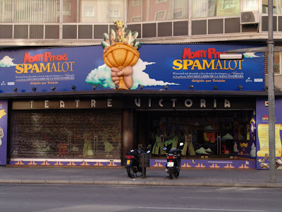 Barcelona sights - Monty Python's Spamalot at the Teatre Victoria