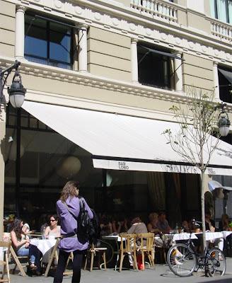 Terrace outside Bar Lobo - Barcelona Sights