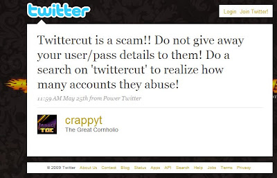 Twittercut Scam on Barcelona SEO Blog
