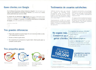 Postal Invitation for AdWords - Barcelona SEO