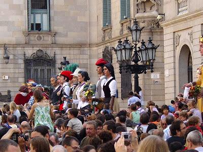 Gegants in Plaça Sant Jaume - Barcelona Sights Blog