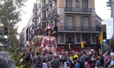 Giants Parada at Las Ramblas - Barcelona Sights Blog