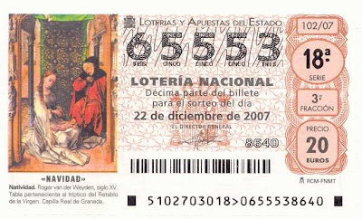 Spanish Lottery Ticket - Barcelona Sights blog