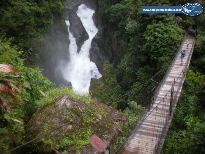 Imagenes De Baños Agua Santa:Cascada de Rio verde o pailon del diablo