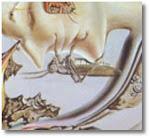 Salador Dalí. El joc lúgubre (detall)