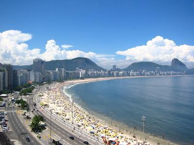 Ipanema Beach Brazil. famous each in Brazil,