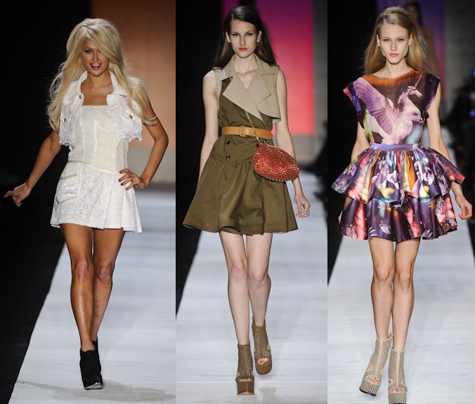 vestidos curtos coloridos 2011