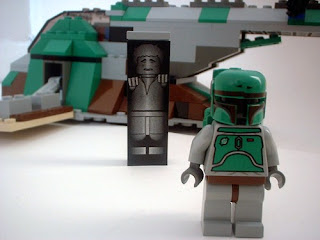 Star Wars Lego Collectables LEGO 7144 Boba Fett and Han Solo in Carbonite mini figure