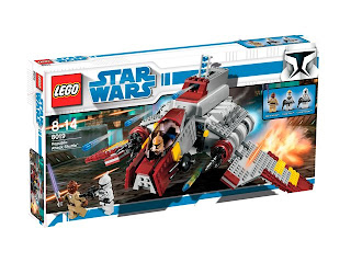 Latest 2009 Star Wars Lego Collectable Set - 8019 Republic Attack Shuttle